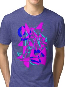 Abstract 90s Explosion Tri-blend T-Shirt