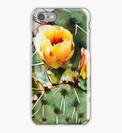Cactus Yellow Bloom iPhone Case/Skin