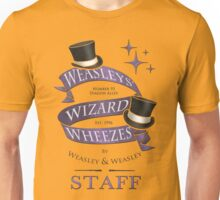 Weasleys' Wizard Wheezes Staff Shirt Unisex T-Shirt