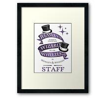 Weasleys' Wizard Wheezes Staff Shirt Framed Print
