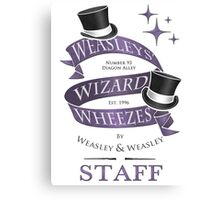 Weasleys' Wizard Wheezes Staff Shirt Canvas Print