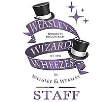 Weasleys' Wizard Wheezes Staff Shirt Photographic Print