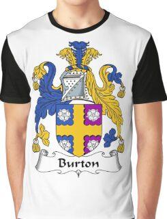 Burton Coat of Arms / Burton Family Crest Graphic T-Shirt
