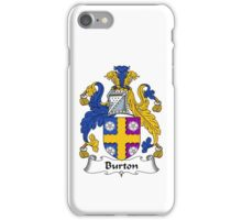 Burton Coat of Arms / Burton Family Crest iPhone Case/Skin