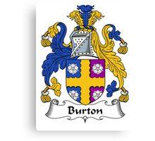 Burton Coat of Arms / Burton Family Crest Canvas Print