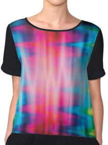 Psychedelic Rainbow Color Waves Chiffon Top