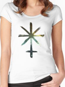 Juno Asteroid Symbol - Universe Edition Women's Fitted Scoop T-Shirt