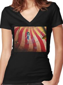 Self-sabotage/Almost there Women's Fitted V-Neck T-Shirt
