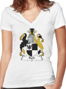 Byrd Coat of Arms / Byrd Family Crest Women's Fitted V-Neck T-Shirt
