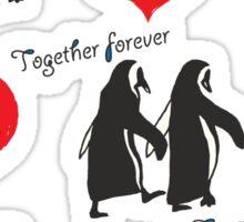 Together forever penguin pattern Sticker