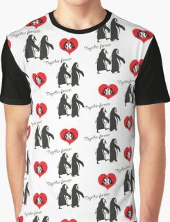 Together forever penguin pattern Graphic T-Shirt