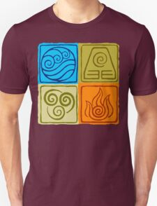The Four Elements - Avatar: The Last Airbender Unisex T-Shirt