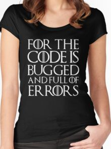 For the code is bugged and full of errors... Women's Fitted Scoop T-Shirt