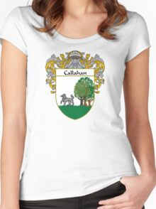 Callahan Coat of Arms/Family Crest Women's Fitted Scoop T-Shirt