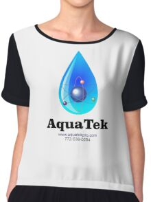 Aquatek Pro Water Purification Co. logo Chiffon Top