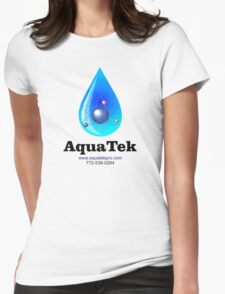 Aquatek Pro Water Purification Co. logo Womens Fitted T-Shirt