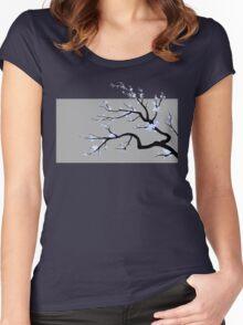 Sakura Blue v2 - Adjusted for darker colors Women's Fitted Scoop T-Shirt