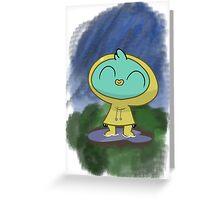 Harvey Beaks Raincoat Greeting Card