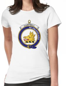 Campbell Clan Badge Womens Fitted T-Shirt