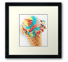 Superman / Scooperman Ice Cream Cone Framed Print