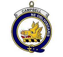 Campbell Clan Badge Photographic Print