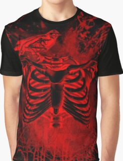 Free from inside-Black & red Graphic T-Shirt