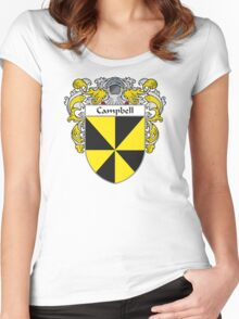 Campbell Coat of Arms/Family Crest Women's Fitted Scoop T-Shirt