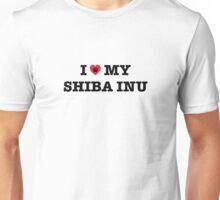 I Heart My Shiba Inu Unisex T-Shirt