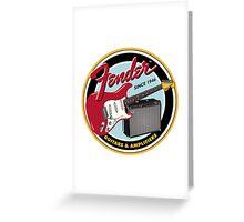 FENDER GUITARS & AMPLIFIERS Greeting Card