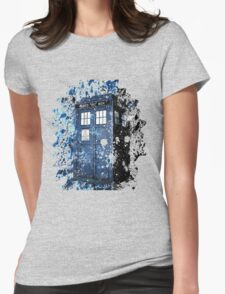 Blue Box Dispersion Womens Fitted T-Shirt
