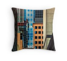 Melbourne Cityscape by Gaye G Throw Pillow