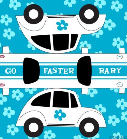 Go Faster, Baby! (blue) Sticker