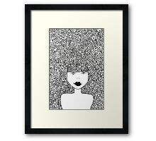 Big Hair Don't Care Framed Print