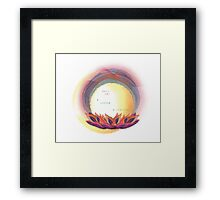A Choice. A Blessing. Framed Print