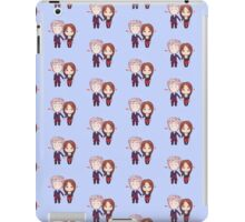 12 and Clara Chibi Pattern iPad Case/Skin