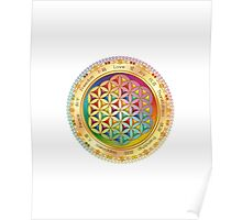 The Flower of Life - light with framing Poster