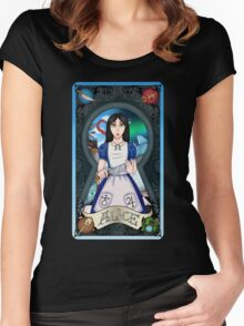 Alice Madness Returns Tarot Card Women's Fitted Scoop T-Shirt