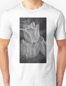 Tulips, Black and White T-Shirt