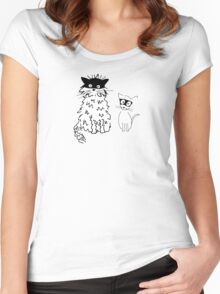 Cat superheroes Women's Fitted Scoop T-Shirt