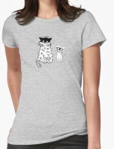 Cat superheroes Womens Fitted T-Shirt