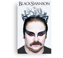 Black Swanson Canvas Print