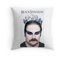 Black Swanson Throw Pillow