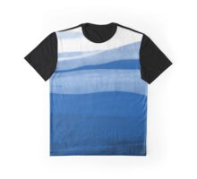 Abstract landscape in blue Graphic T-Shirt