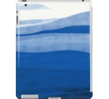 Abstract landscape in blue iPad Case/Skin