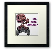 Inspired by Sackboy of Little Big Planet Framed Print
