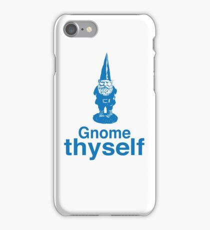 Gnome Thyself iPhone Case/Skin