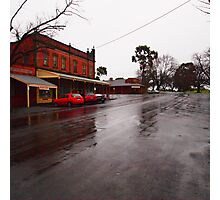 A wet day in Maldon VIC Australia Photographic Print