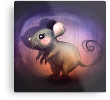 Midnight Mouse Metal Print