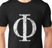 Phi Greek Letter Symbol Grunge Style Unisex T-Shirt