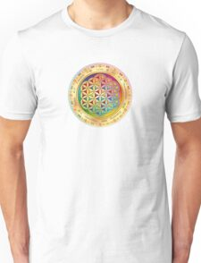 The Flower of Life - light with framing Unisex T-Shirt